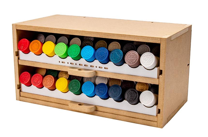 Slide&Tilting Drawer Paint Shelf OPERA-19A (For acrylic, enamel) Image