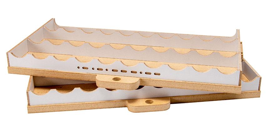 Slide&Tilting Drawer Paint Shelf OPERA-19A (For acrylic, enamel) Thumbnail Image 7