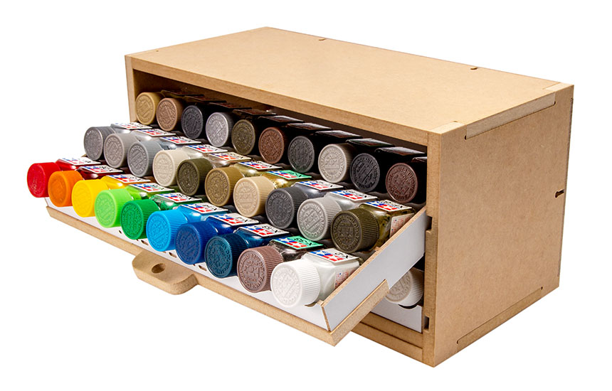 Slide&Tilting Drawer Paint Shelf OPERA-19A (For acrylic, enamel) Thumbnail Image 9