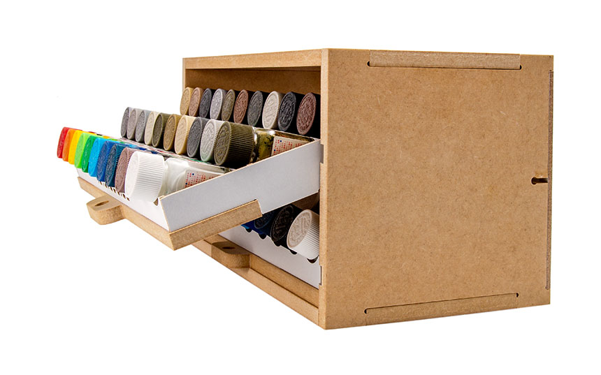 Slide&Tilting Drawer Paint Shelf OPERA-19A (For acrylic, enamel) Thumbnail Image 10