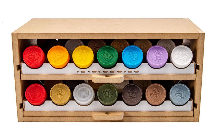 Slide&Tilting Drawer Paint Shelf OPERA-19A (For acrylic, enamel) Thumbnail Image 16