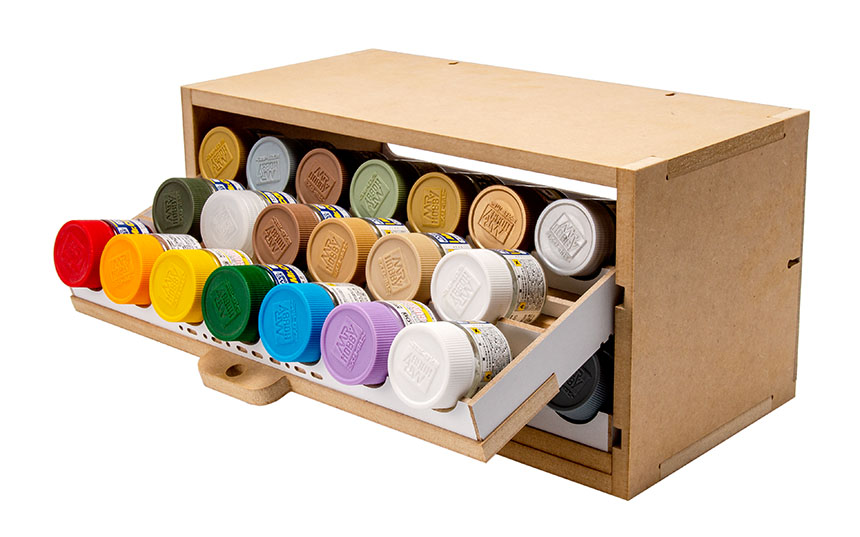 Slide&Tilting Drawer Paint Shelf OPERA-19A (For acrylic, enamel) Thumbnail Image 17