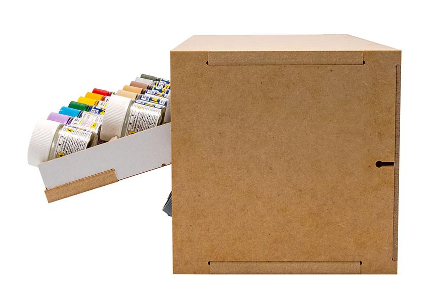 Slide&Tilting Drawer Paint Shelf OPERA-19A (For acrylic, enamel) Thumbnail Image 18