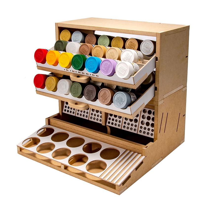 Slide&Tilting Drawer Paint Shelf OPERA-19A (For acrylic, enamel) Thumbnail Image 23