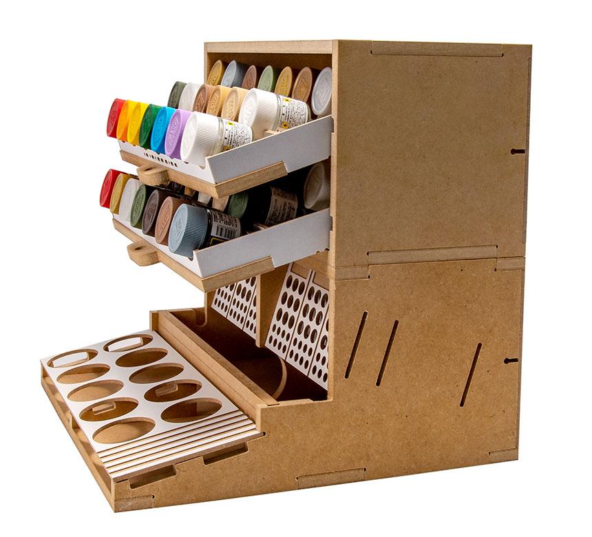 Slide&Tilting Drawer Paint Shelf OPERA-19A (For acrylic, enamel) Thumbnail Image 24