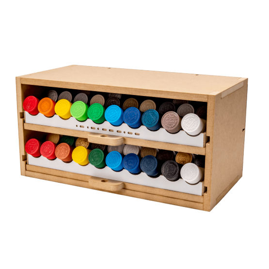 Slide&Tilting Drawer Paint Shelf OPERA-19B (For Lacquer)